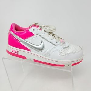 Nike Limited Edition Hot Pink Silver White Leather